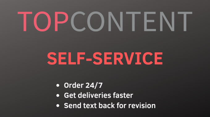 Order content online with Topcontent self-service