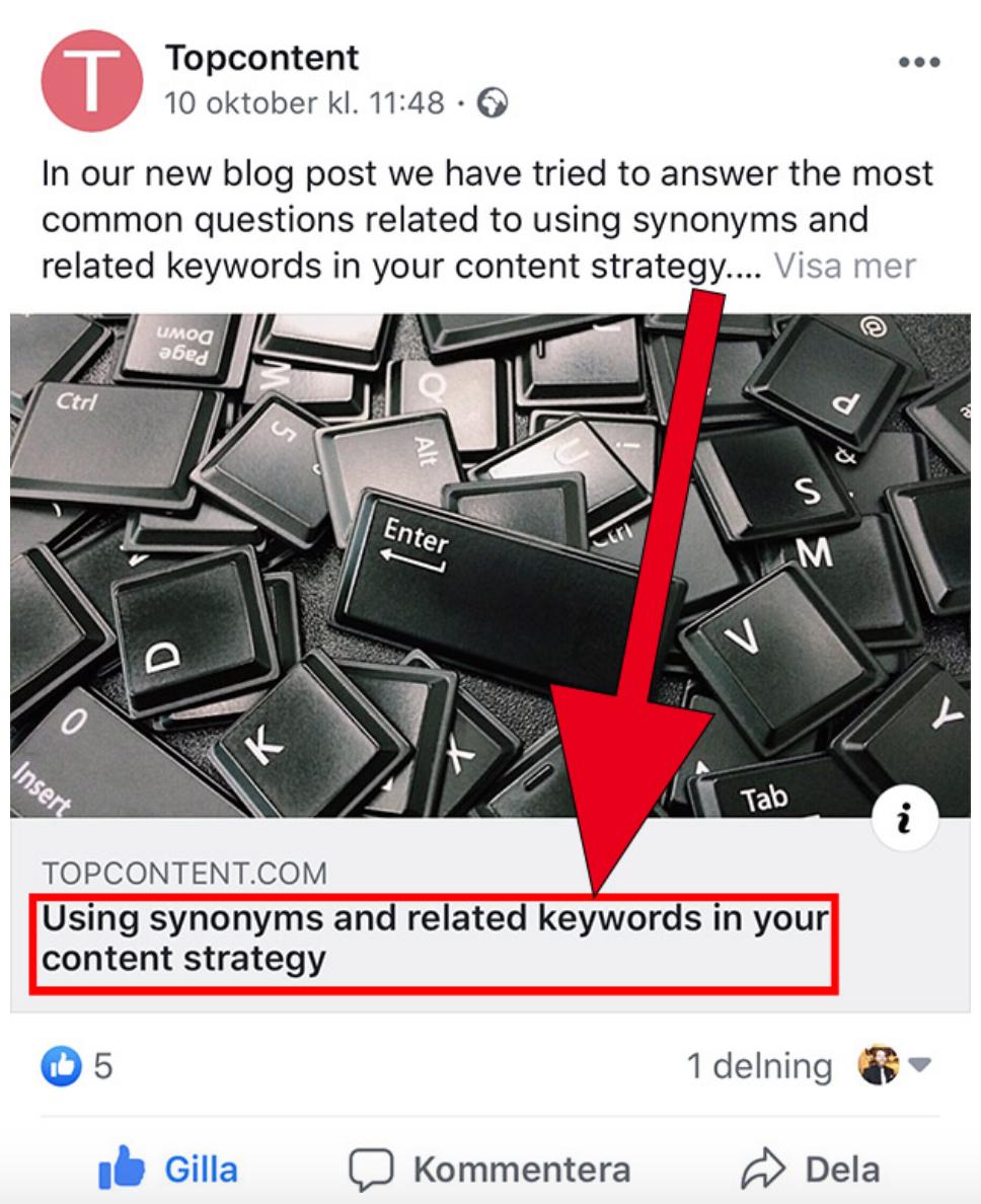 SEO title in social media