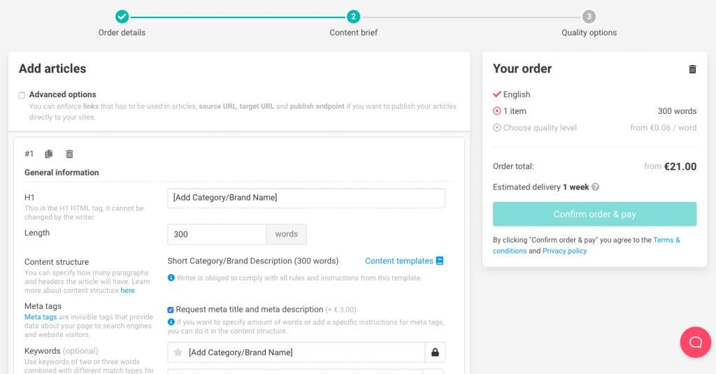 Buy articles via Topcontent Self-Service