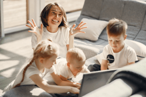 challenge of parents working from home and dealing with kids at the same time