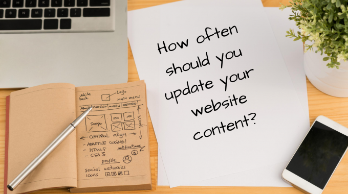 How often should you update your website content