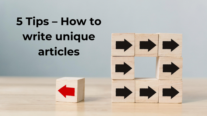 How to write unique articles the easy way
