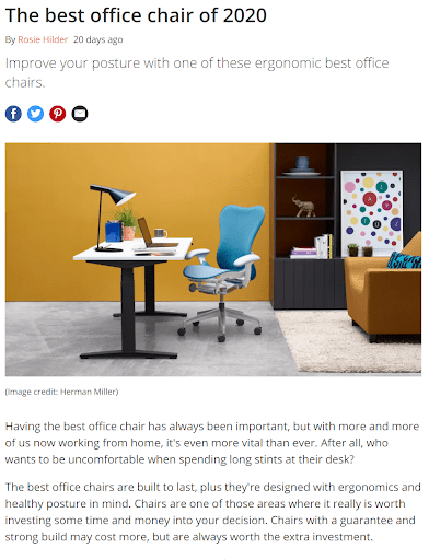 best office chair blog post review example