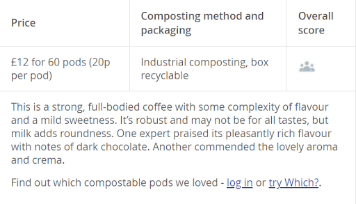 example nespresso product review details